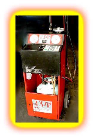 automotive freon recovery machine